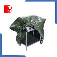 2015 high quality colorful bbq grill cover rectangular bbq cover material pe bbq cover