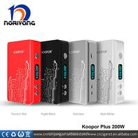 quick-selling product e cigarette box mod of 2016 new product koopor 200w vapor batteries wtih dual 18650 batteries