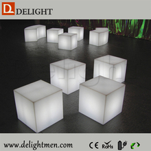 led cube light/ cube chairs for kids/ led illuminated cubes lighting