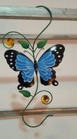Metal Butterfly Wall Hook in Blue