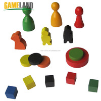 Custom Wooden Board Game Pawns Wooden Board Game Tokens Manufacturer