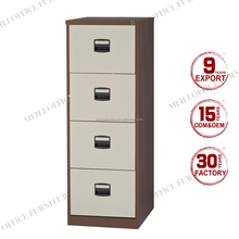 Top sale 4 drawer lockable steel filing cabinet with metal master key