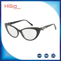 LATEST FAHION ACETATE GLASSES HIGH QUALITY OPTICAL FRAME CAT EYEWEAR SPECTACLE