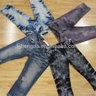 Segunda mão 3/4 atacado usado calças jeans