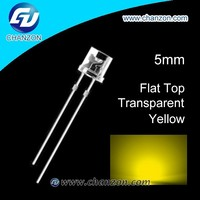1.9v-2.3v 2015 1000pcs low prices flat top 5mm led diode yellow
