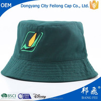 cap and hat factory custom 100% cotton embroidered promotional bucket hat