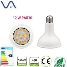 2015 new design high power factor above 0.95 OSRAM chip 12W par30 spotlight