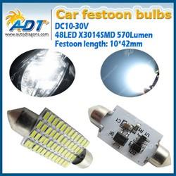 Super bright Brand New 42MM 48-3014-SMD White Dome Festoon LED Reading Light Bulbs