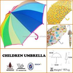 Kids 16-Panel Rainbow Rain Spring Umbrellas