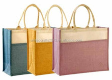 High Quality Plain Color Shopping Bags Jute With Storage Bag