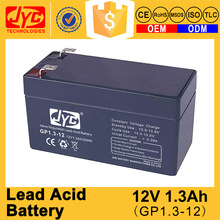 Long quality guarantee sealed lead acid 12v 1.3ah sla battery