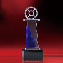 new desgin wheel blue crystal award