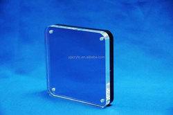 customized clear acrylic cube photo frame