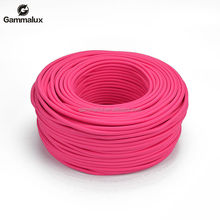 Hot Popular Modern Colourful Power Cord ,Bright Pink Fabric Textile Power Cord Round
