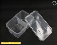 China manufacturer disposable clear plastic food container