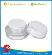 Round transparent acrylic cosmetic jar small plastic container 5g 10g 15g