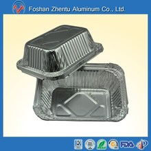 aluminum foil takeaway fast food plate/tray for airline food lunch box