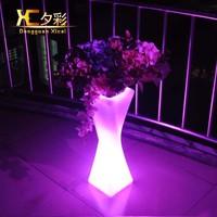 European Large Size Plastic Flower Pot Decorative Glowing Floor Vase