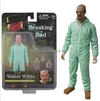 "Breaking Bad Walter White 6"" Action Figure Mezco Toyz Blue / Green Hazmat Suit"