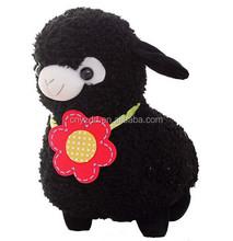 35cm Adorable Black Alpaca Soft Stuffed Plush Doll /High Quality Stuffed Toy Alpaca/Plush Animal Toy
