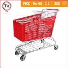 Supermarket standard plastic trolley/plastic trolley