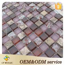 Foshan Promotion Products Interior Decorative Broken Glass Mosaic Tile