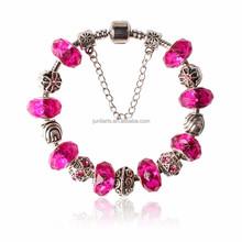 Luxury Silver Charm Bracelet & Bangle For Women With High Quality European Style Murano Glass Bead Charm Bracelet