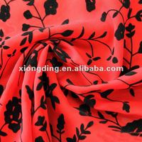 printed 100% polyester 300T matting polyester pongee for shoes and wind break