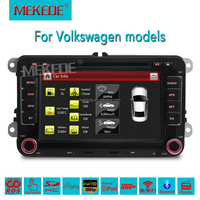 "Built-in CAN-BUS +Hot Sale 2 DIN 7"" Car DVD for VW JETTA GOLF MK5 MK6 GTI PASSAT B6 POLO SKODA Fabia GPS Navigation Radio USB/SD"