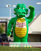 Cartoon Inflatable Animal Model / Custom T-rex Advertising Inflatable Mobel / Promotion Inflatable Cartoon Model