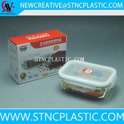 customize sealed plastic food container with lid 670ml
