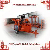 WANTE MACHINERY WT1-20/WT1-20M clay interlocking bricks machine kenya