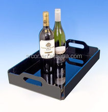 distinct acrylic food tray with cover
