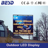 BESD outdoor waterproof high quality p6 p8 p10 advertising led screen/outdoor advertising led display screen