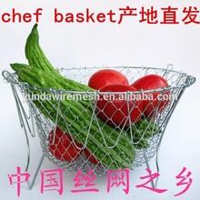 De China venta al por mayor de múltiples funciones plegable colador de aceite Chef Basket