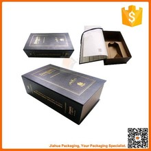 luxury wine bottle boxes book shape