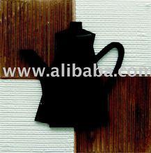 Teapot Applied, acrylic painting, on canvas, handmade , 30x30cm, exclusive brazilian art