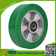 Elastic polyurethane on aluminum core wheel caster