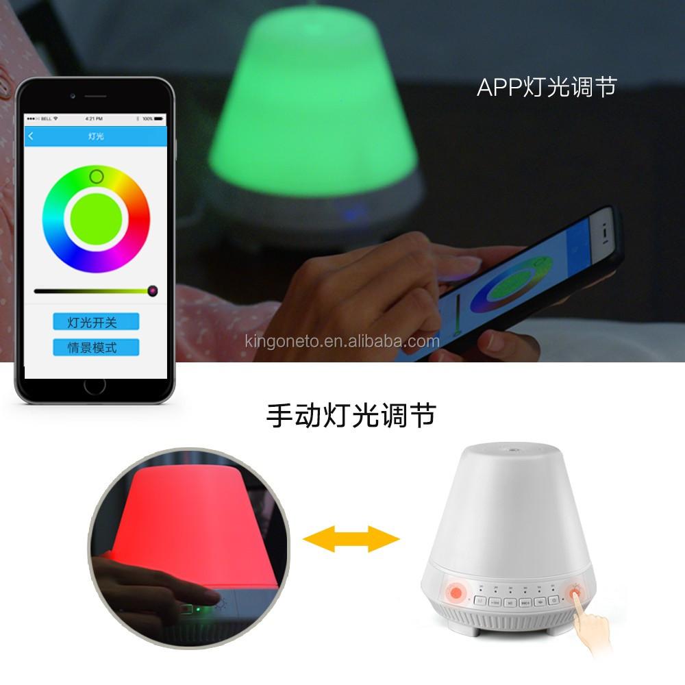 Bluetooth essentile olie diffuser app controlled tastbaar bluetooth essentile olie diffuser app controlled tastbaar kleurrijke led lampen wifi arometherapy luchtbevochtiger parisarafo Image collections