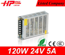 Guangzhou factory price metal box led driver 5A120w 24v dc switching Power Supply