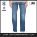 Estilos moda stretch men jeans slim fit, cinco bolsillos hombre jeans pantalones, interior azul de recubrimiento vaqueros para ventas al por mayor