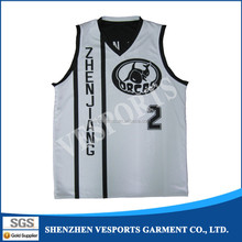 Cheap dye sublimation printing basketball wear