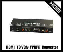 HDMI to YPbPr VGA and Component Video Converter 1080p Video Audio RCA L/R