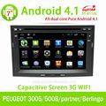 Centro multimedia gps para android puro 4.1 peugeot 3008/5008/socio/berlingo con gps! De buena calidad!