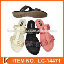 de tejido de diseño especial de color plano zapatillas para las niñas