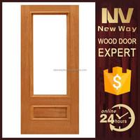 New design modern decorative interior french wood door glass window inserts