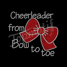 Cheerleader From Bow TO Toe With Bowknot Bowknot Heat Transfer Motif For Apparel