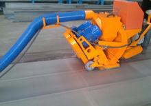 Portable plate shot blasting machine
