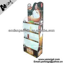 Luz portátil pvc deber 4- nivel comestics estante de exhibición de la tienda al por menor de muebles de diseño