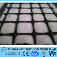 composite geotextile(staple fiber needle punched nonwoven geotextile+biaxial plastic geogrid)